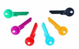 Výroba klíčů – barevné klíče