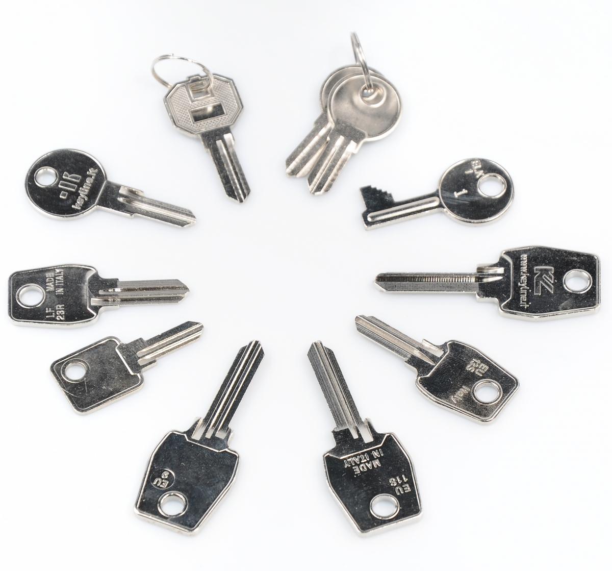Výroba klíčů – sada klíčů