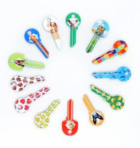 Výroba klíčů – klíče s potiskem